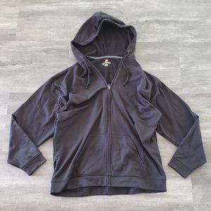 Black Hanes Sport Performance Fleece Hoodie Zip Up